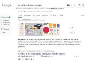 the world most spoken language